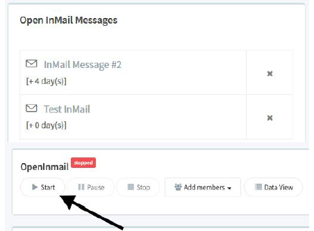 Open inmail messages